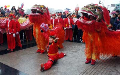 It was a scene that a series of lion dance competitions, involving six ...