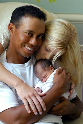 daughter of tiger woods