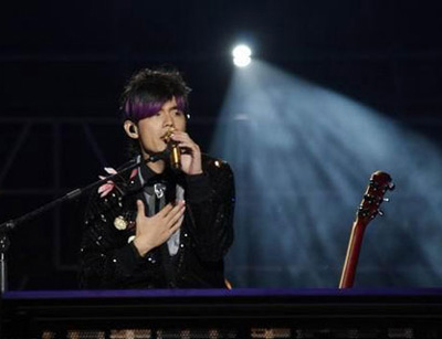 Jay Chou holds concert in Shanghai -- china.