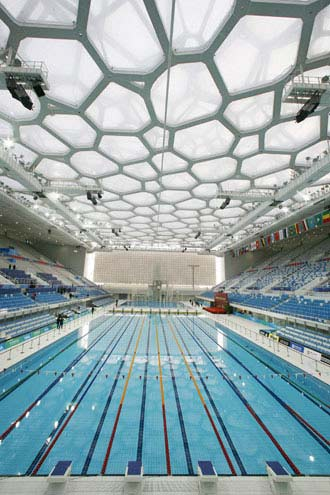 water cube poised for pre olympic test ForBeijing Swimming Pool Olympics