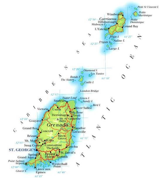 世界地图国家名字