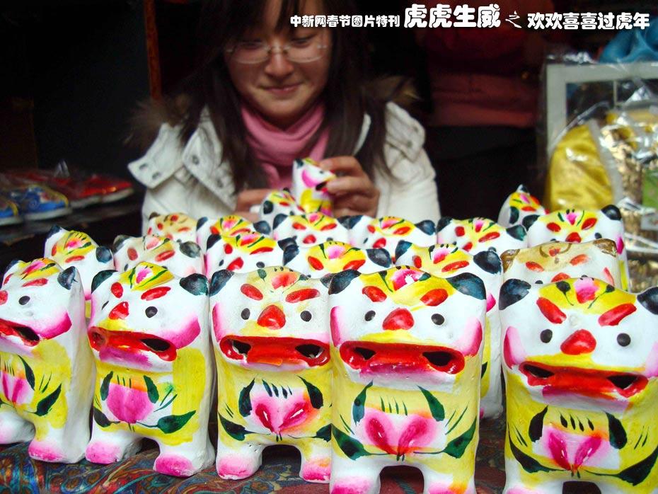 苏州山塘街民间艺人制作的传统