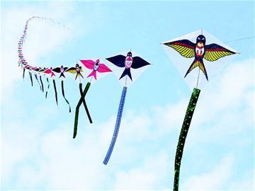 儿童手工制作风筝身体