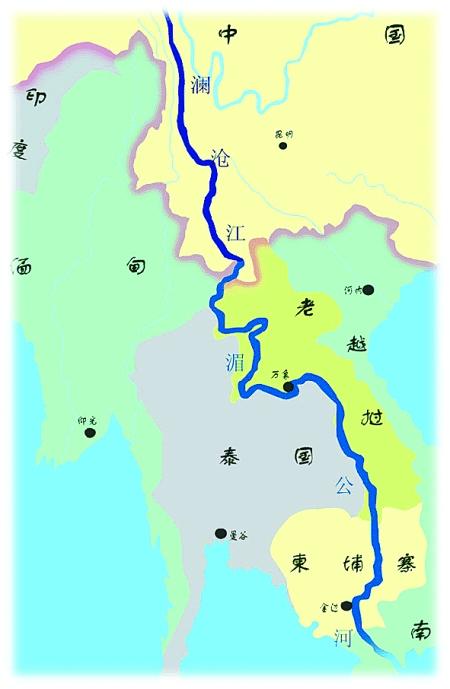 越南老挝柬埔寨地图