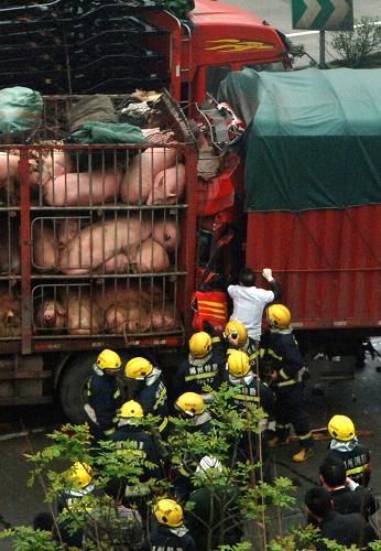 京珠高速郴州段发生7车连环相撞事故