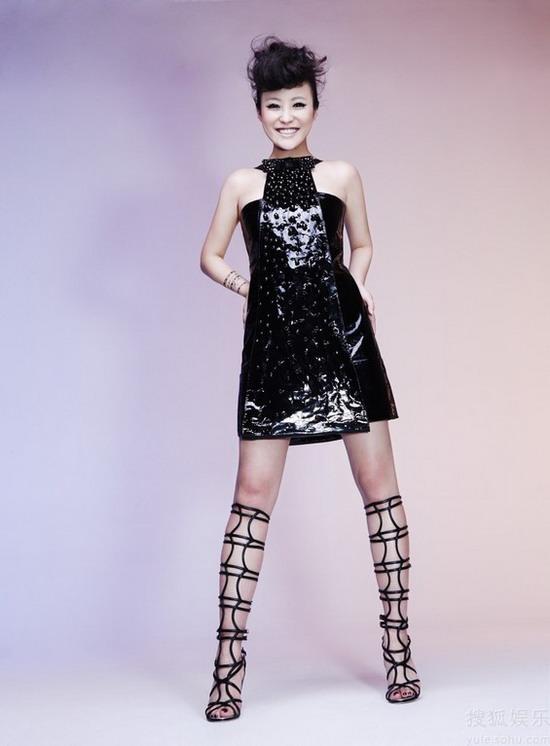 郝蕾时尚大片诱人幻想 变身未来战士大展魅力