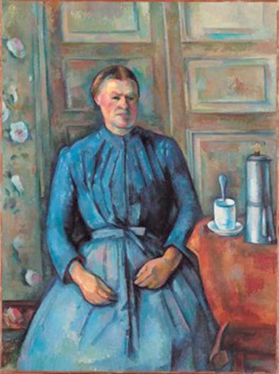 塞尚的《咖啡壶边的妇女》
