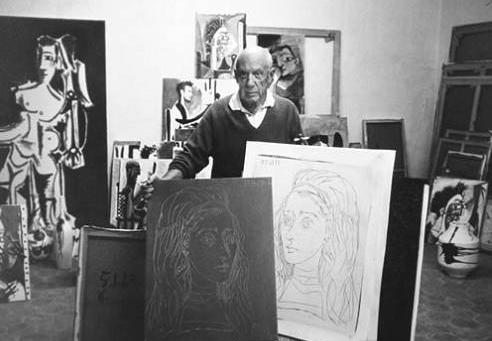 毕加索与吉纳维夫在一起 天才还是魔鬼 看那些为毕加索着高清图片