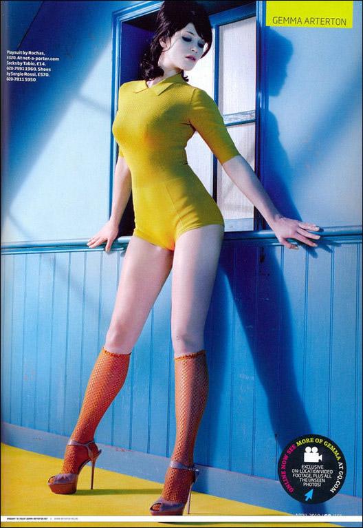 波斯王子 女主角杰玛 阿特登拍杂志写真