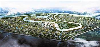 中新天津生态城 人类生存模式的探索示范高清图片