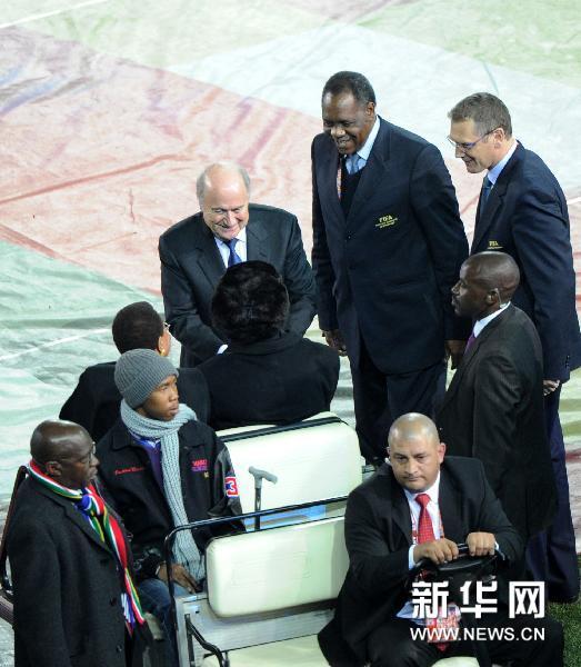 曼德拉出席世界杯闭幕式