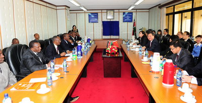 商务部副部长姜增伟访问肯尼亚