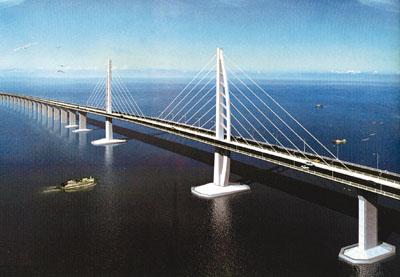 港珠澳大桥主体工程预计2010年底将正式动工,以确保大桥2016年如
