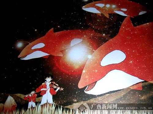 全国青少年科学幻想绘画作品在广西科技馆展出图片