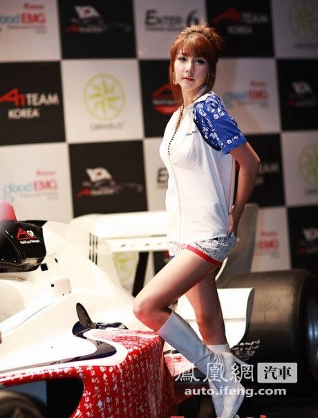 清纯到极致的韩国美女车模