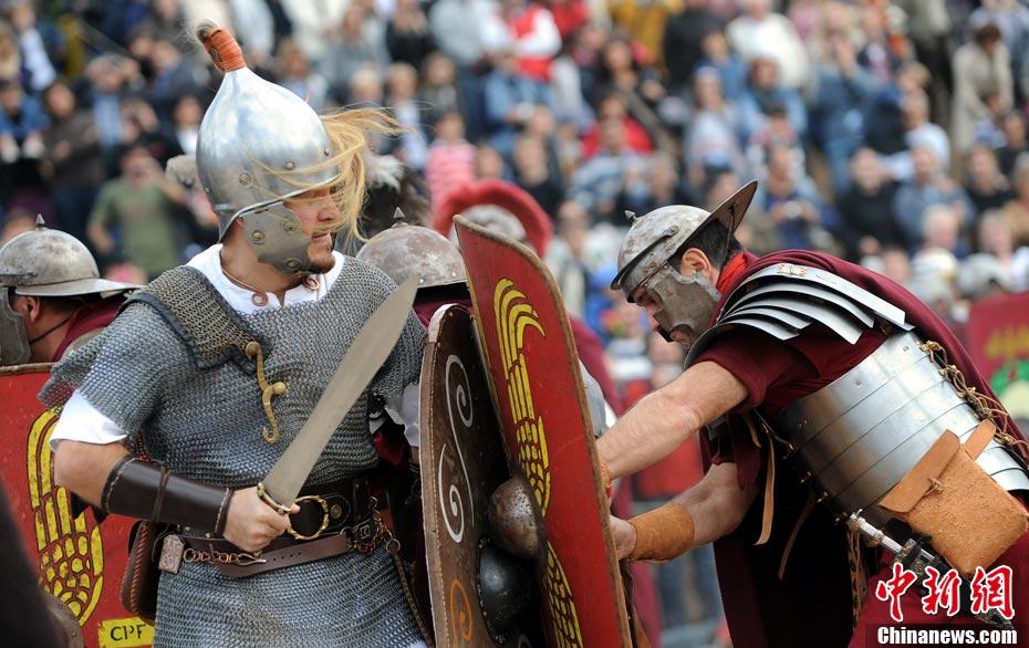 意大利 重演 古罗马人和凯尔特人战争