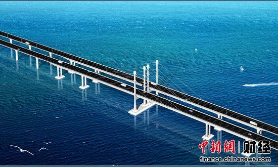 青岛海湾大桥图片集锦