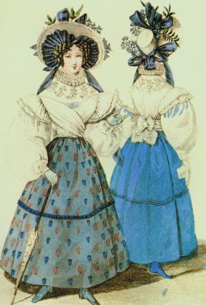 哥特式时期服装手绘