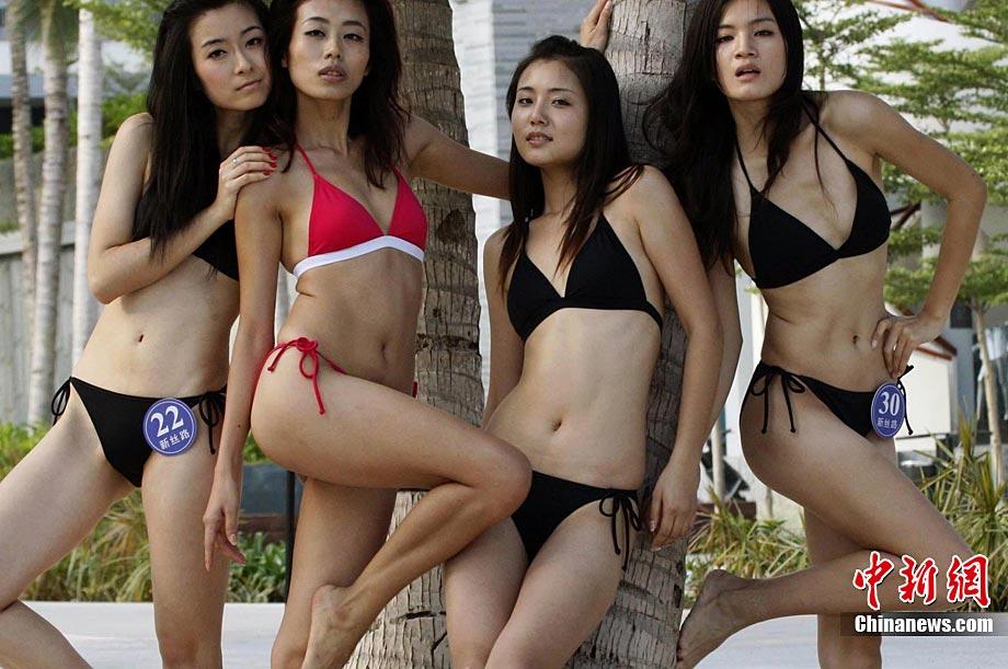 女模特选手汇聚三亚参加总决赛的系列活动.图第18届新丝路中国模特