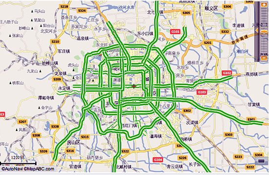 以福特的sync为例,导航系统能够与google地图融合,实时在线下载最新的