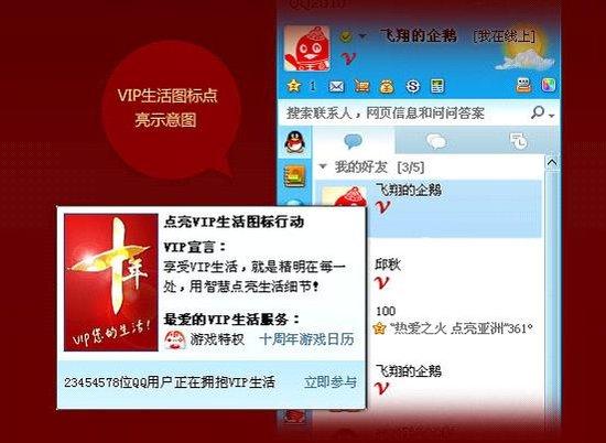 乐享高品质生活 网友热捧QQ会员十周年图标图片