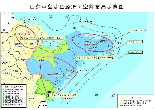 中规划主体区范围包括山东全部海域和青岛,东营,烟台,潍坊,威海,日照6