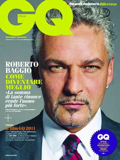 近日意大利足球巨星罗伯特·巴乔为意大利版《GQ》拍摄...