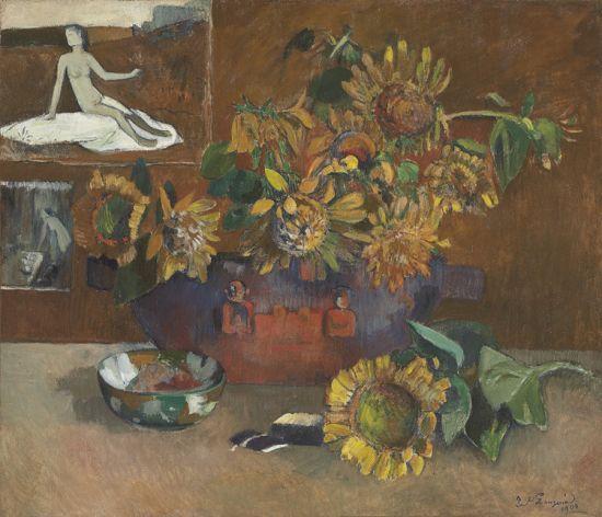 佳士得2月拍卖最值得关注的作品是高更的向日葵,这是一件向梵高