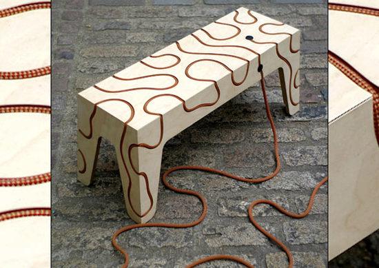 """""""用一根绳子串接""""的创意座椅"""