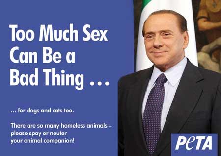 领导人遭恶搞 贝卢斯科尼被代言节育广告