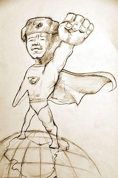 大学生编绘漫画版 雷锋 雷锋穿超人短裤