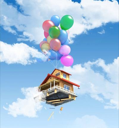 房子海報卡通圖片