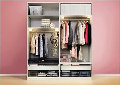 家用大衣柜内部结构图