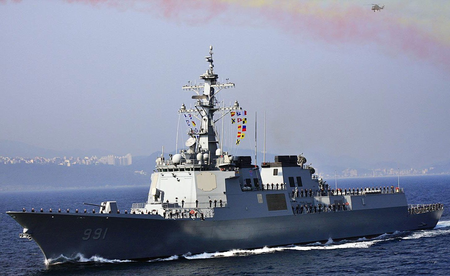 991bf_韩国第一艘宙斯盾舰ddg991世宗大王号,具备海基反导的基础