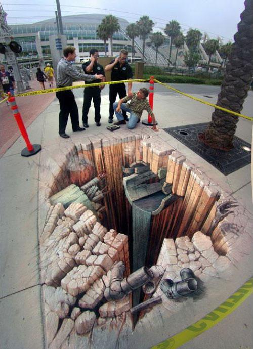标签:三维立体画,街头艺术,艺术家,创意,彩绘,3d图片