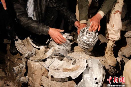 的黎波里/2011年3月21日,一次导弹袭击已经对卡扎菲在的黎波里的基地造...
