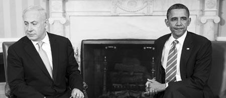 月20日,美国总统奥巴马在华盛顿白宫会见以色列总理内塔尼亚胡-
