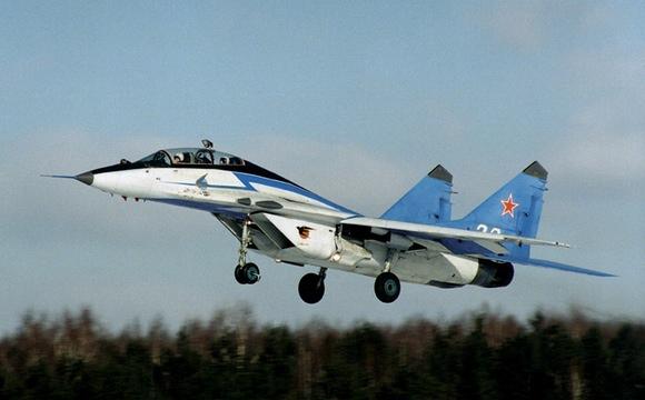 俄一架米格 29战机坠毁 机上两名飞行员死亡