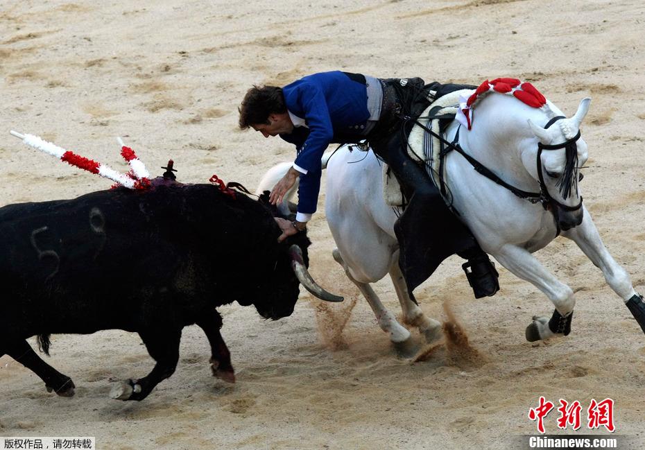 西班牙奔牛节开幕 斗牛表演惊险刺激