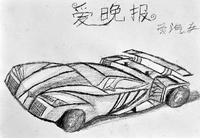 小朋友手绘未来汽车