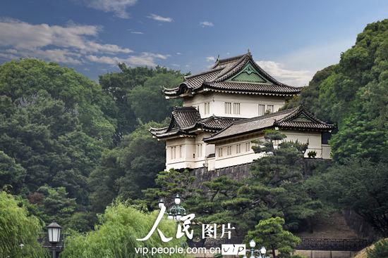 日本东京明仁天皇庄严而又神秘的皇宫(文宝丽/人民图片)