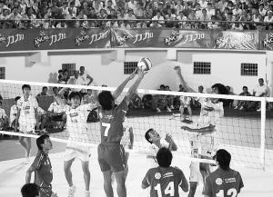 """""""力加杯""""省排球联赛已成为海南省品牌体育比赛.小新发-海南省排"""