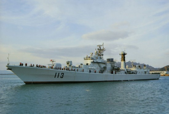 改装后的113青岛号导弹驱逐舰