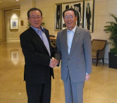 武大伟特别代表会见朝鲜外务省第一副相金桂冠