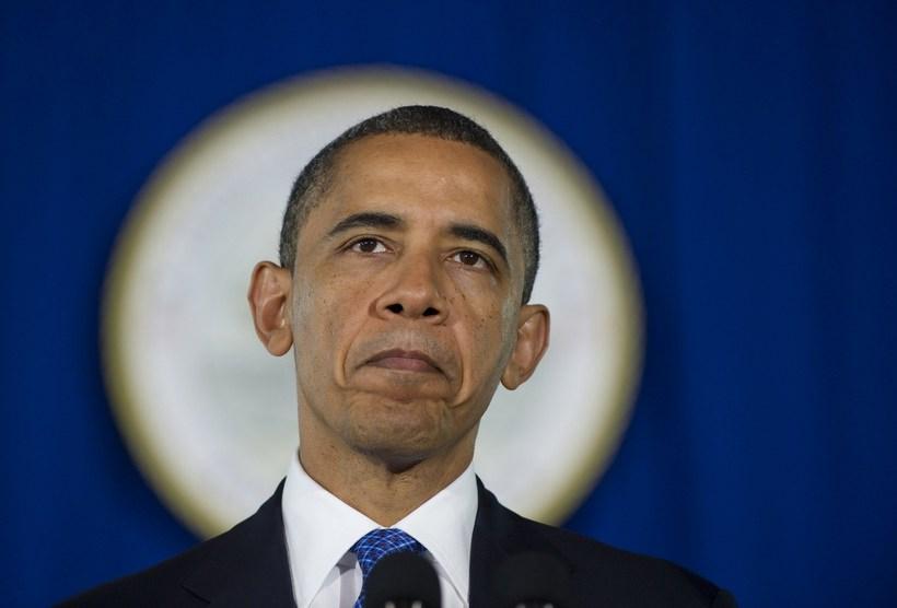 高清:美国总统奥巴马就经济和就业形式发表讲话图片