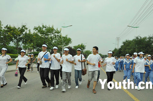 江南大学学子阳光体育领跑 共享健康盛会
