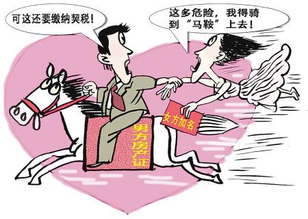 婚前房产加名征税是与民争利(图)