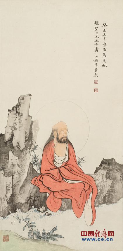 一众大师不乏与佛教颇具渊源者.张大千是位虔诚的佛教徒...