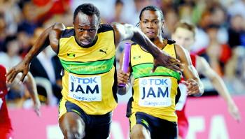 世锦赛男子4×100米比赛牙买加夺冠并破世界纪录
