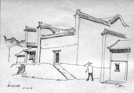 半世纪前的西安写生画_新闻台_中国网络电视台图片